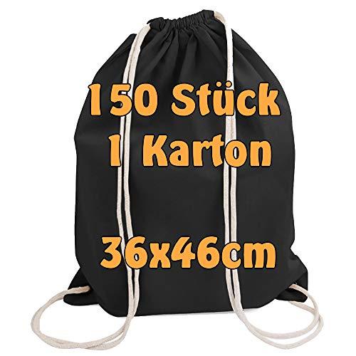 Cottonbagjoe moderner Turnbeutel   Baumwollrucksack   Beutel zum Bemalen   Stoffbeutel   Gym Bag   mit Kordelzug   Öko-Tex Zertifiziert   36x46 cm
