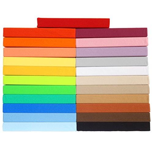 Gerald Wittmann Jersey Spannbettlaken, 100% Baumwolle, Farbe Grün, Größe 140x200-160x200 cm