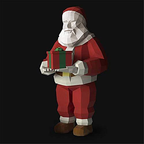 Molinter Origami Papel 3D Craft Paper Navidad papel de manualidades Papá Noel Origami papel de doble cara papel plegable para decoración de Navidad