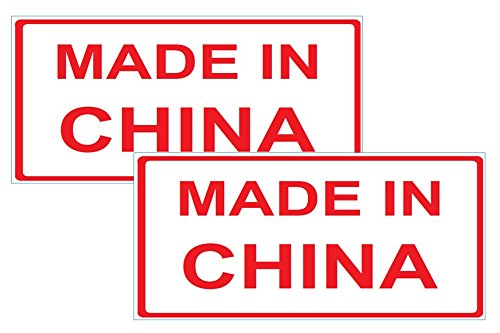 Motorrad- Aufkleber 2 Stück Made in China Flagge Tourist Souvenir