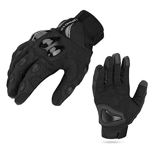 Motorrad Handschuhe Sommer Sport Handschuhe Touchscreen Handschuhe Warm Atmungsaktiv Anti RutschFahrad Handschuhe Sommerhandschuhen Ideal für Motorrad Radfahren Camping Outdoor Schwarz XXL