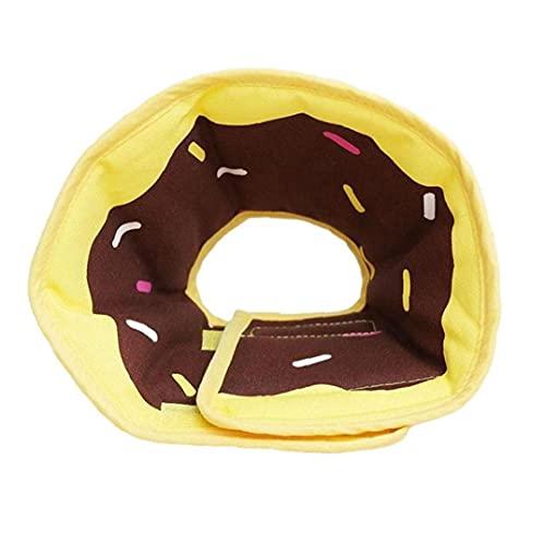 Naisicatar Cuello de recuperación de Perros Ajustable Cuello Protector del Cuello de la Mascota Curación Ajustable Elizabeth Nine Ring M Donut
