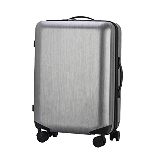 Adlereyire Trolley Suitcase Lightweight Durable Carry On Cabin Hand Luggage Set, Travel Bag with 4 Wheels (Color : Silver, Size : 42 * 26 * 63cm)