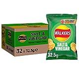 Walkers Salt & Vinegar Crisps - Pack Size = 32x32.5g