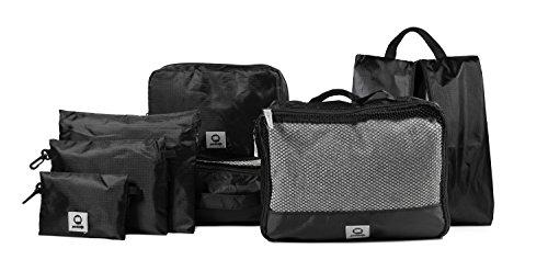 HAUPTSTADTKOFFER - Packhilfe – Kofferorganizer Set 7-teilig, 2 multifunktionale Organizer-Taschen (M + L), Kosmetiktasche, Schuhtasche, 3 kleine Utensilien-Taschen