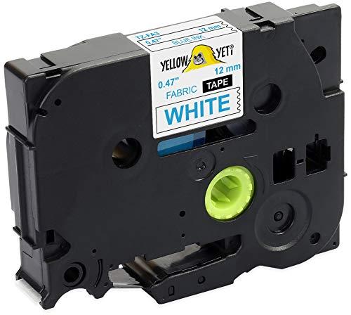Yellow Yeti Textilband TZe-FA3 TZ-FA3 blau auf weiß 12mm x 3m Textil-Aufbügelband kompatibel für Brother P-Touch PT-1000 PT-H100 PT-D210VP PT-D400 PT-D600VP PT-P700 PT-P750W CUBE Etikettendrucker