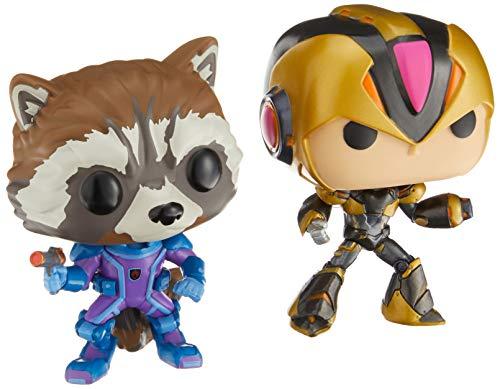 Funko pop games Rocket vs Mega man x Marvel VS Capcom pack exclusivo gamestop