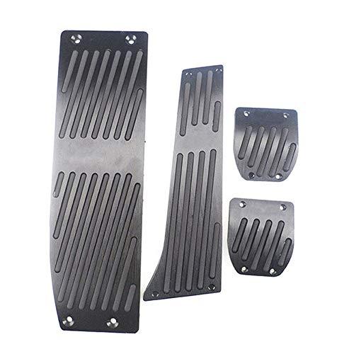 DHFBS Silber/Schwarz Aluminiumlegierung Auto Pedale Auflage, Für BMW X1 M3 E30 E36 E39 E46 E87 E90 E91 E92 E93 Auto-Styling-Zubehör