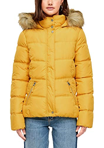 Q/S designed by - s.Oliver Damen Wattierte Jacke mit Fake Fur Honey M