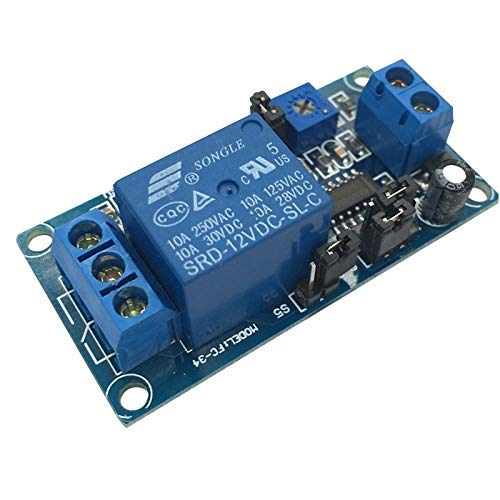 5pcs Venta caliente Retardo de retardo Retardo de apertura/retardo Módulo de interruptor de apagado y temporizador DC 12V.