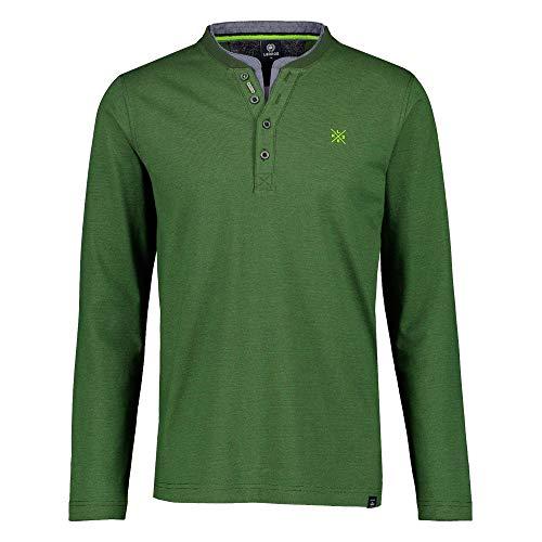 LERROS Herren Serafino Fineliner Henley-Hemd, Pine Green, M