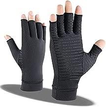 Copper Arthritis Compression Gloves for Women Men Rheumatoid Arthritis Pain Relief Swelling (M)