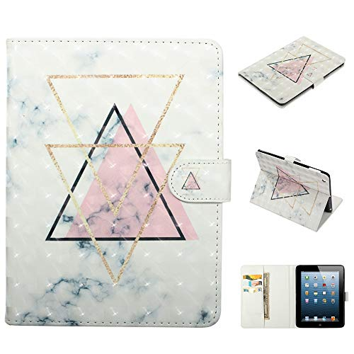 KimsCase for Apple iPad 2 3 4 Smart Case Leather Magnetic Notebook Design Protective Pretty Cute 3D Glitter Bling Kawaii Dustproof Shockproof Bumper Funny Cover - Triangle