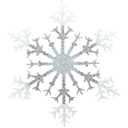 Hanging Snowflake Ornament Aqua 30mm Snowflake