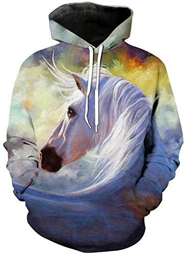 Sudaderas Sudadera Nueva Animal 3D caballo de la impresión de las muchachas de las sudaderas con capucha sudaderas unisex divertido sudaderas con capucha con bolsillos for Hombres Mujeres Trajes adole