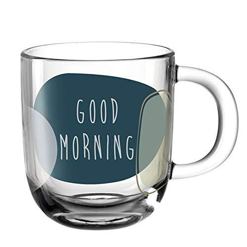 Leonardo - Tasse - Kaffeetasse - Henkelbecher - Good Morning - Glas - Hitzebeständig - 400 ml