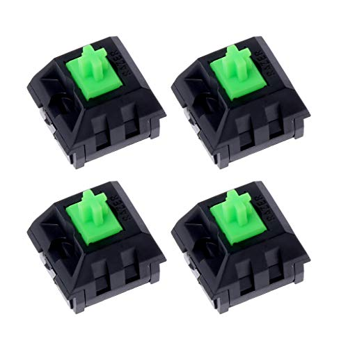 Gjyia 4 Stks Groene Schakelaars As voor Razer Gaming Mechanisch Toetsenbord voor Kers MX 3pin Schakelaar Groen Een Size