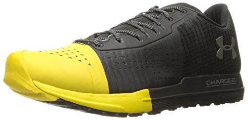 Under Armour Men's Horizon KTV Running Shoe, Black (001)/Zeppelin Yellow, 13