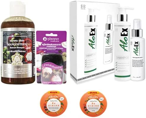Havilah Extra Set specialty shop Mama Mangosteen Raleigh Mall Shampoo 270ml Peel with Herbal
