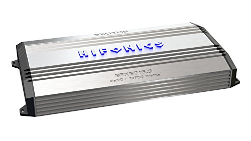 Hifonics BRX5016.5 Brutus 5-Channel Super Class-A/B and 4-Channel Super D-Class Mono Amplifier, 1200-Watt