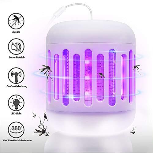 T98 Elektrischer Insektenvernichter, Insektenkiller Moskito Killer mit UV-Licht Upgrade 2020 Fliegenkiller Gegen Mückenlampe, Elektrischem Schlag Tragbare Insektenlampe für Schlafzimmer Gärten