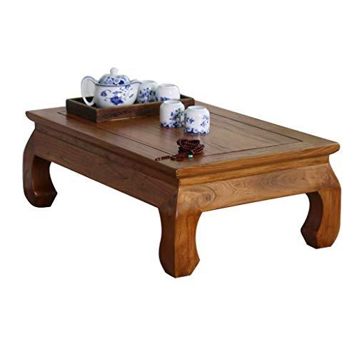 qazxsw Couchtische Plattform Niedriger Tisch Fenstertisch Tisch Alte Buche Holz Fenstertisch Antike Tatami
