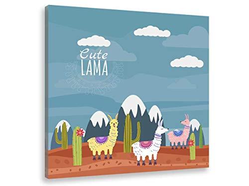 Hexoa - Quadro con illustrazione Lamas e Veretti innevati – Made in France