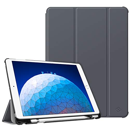 FINTIE SlimShell Case for iPad Air 10.5' (3rd Gen) 2019 / iPad Pro 10.5' 2017, Super Thin Lightweight Standing Protective Cover with Built-in Pencil Holder Auto Wake/Sleep Feature, Space Gray
