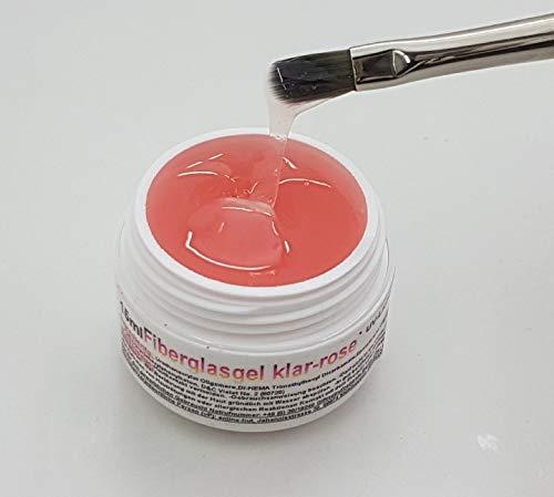 Fiberglasgel Mittelviskos Klar-Rosé 15 ml
