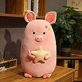 Kawaii Cerdo con Estrella Juguetes de Peluche Encantador Relleno Suave Animal Cerdo Almohada bebé niños Dormir apaciguar muñecas cojín 65cm B