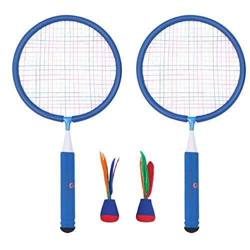 Niños deportes bádminton conjunto bádminton raqueta y deportes al aire libre jugando juguete juego para niños niños niños pequeños juegos al aire libre azul badminton raqueta ( Size : 45.5*23* )