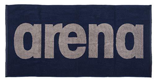 Arena Gym Soft Towel - Asciugamano unisex adulto, blu (Navy-Grey), taglia unica