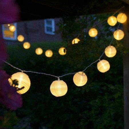 Uping Guirnalda Luminosa LED, 20 Farolillos 3.6 m, Funciona Con Pilas, Decoración Exterior yInterior para Fiesta/Boda/Ceremonia/Jardín/Casa (Blanco)