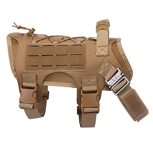 Tactical Scorpion Gear Laser Cut Dog Training Vest Harness K9 Camo MOLLE D6