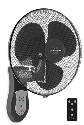 Orbegozo WF 0243 - Ventilador de Pared, Oscilante, 3 Modos, Mando a Distancia, Temporizador, Aspas 40 cm, 40 W