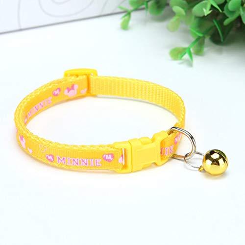 Collares Perros Mascotas Encanto Y Campana Collar De Gato Elástico De Seguridad Ajustable con Material De Terciopelo Suave 12 Colores Producto para Mascotas Collar De Perro Pequeño