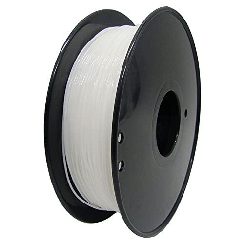Filament d'imprimante 3D Flexible pour les consommables en plastique 3D de TPU 1.75mm 0.8kg pour imprimante 3D (Color : White)