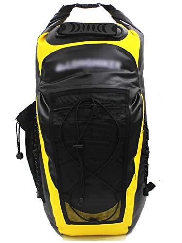 CHENG BAG Wasserdichte Tasche, Hohe Kapazität Dauerhaft Tragbar Innenfach Rucksack zum Bergsteigen Navigation Segelboot Schwimmen Tauchen (Farbe : Gelb)