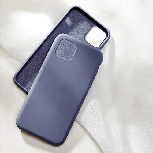 Funda de silicona para 12 11 Pro XS Max XR X Fundas para 7 8 Plus 6 6S SE 12 Pro-For_iPhone_X_XS_Lavender_gray