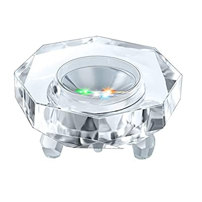 IFOLAINA Crystal LED Light Base Multicolor Changing Pedestal Color Show Stand Lighted Display Plate AC Power for 3D Glass Art