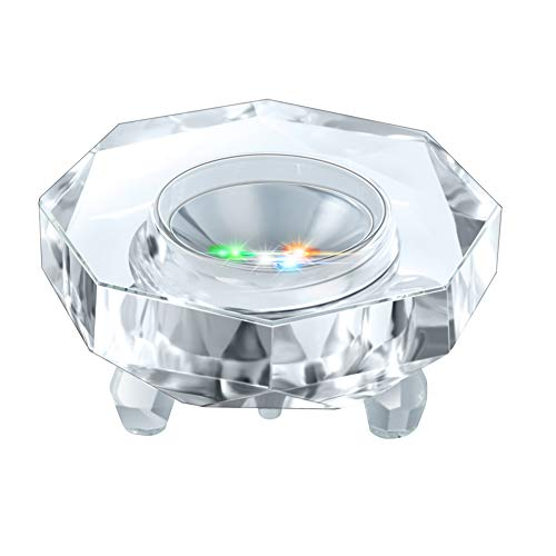 IFOLAINA Crystal LED Light Base Multicolor Auto Flashing Pedestal Color Show Stand Lighted Display Plate with Flat Top Surface for 3D Glass Art