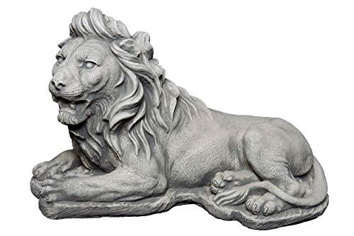 gartendekoparadies.de Massive Steinfigur Stein - Löwe als Torwächter Steinguss frostfest Raumdeko