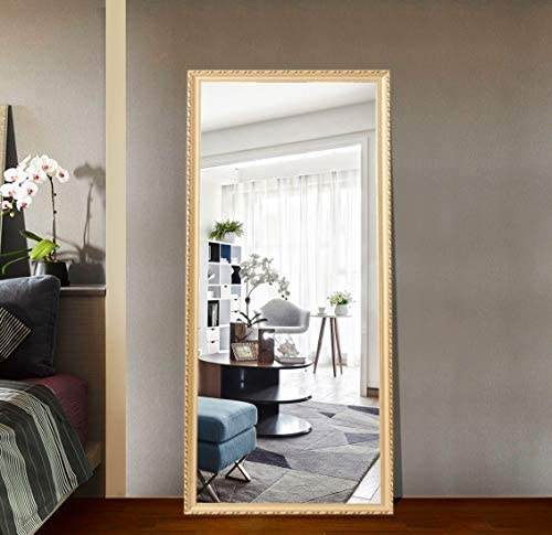 Full Length Leaning Floor Mirror Oversized Finished Frame San Ranking TOP13 Francisco Mall Wood