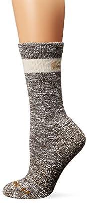 Carhartt Women's Merino Wool Blend Hiker Crew Socks, Brown, Shoe Size: 5.5-11.5