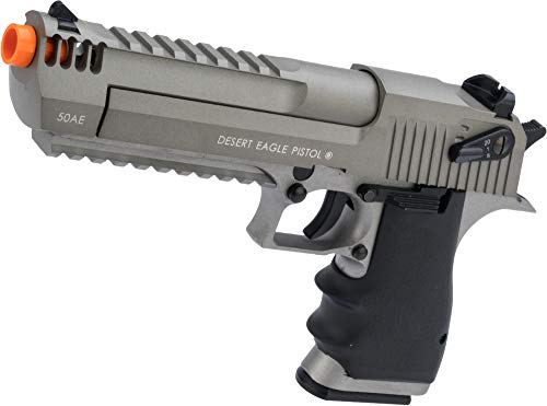 Evike Magnum Research Licensed Semi/Full Auto Metal Desert Eagle L6 CO2 Gas Blowback Airsoft Pistol by KWC (Color: Gray)