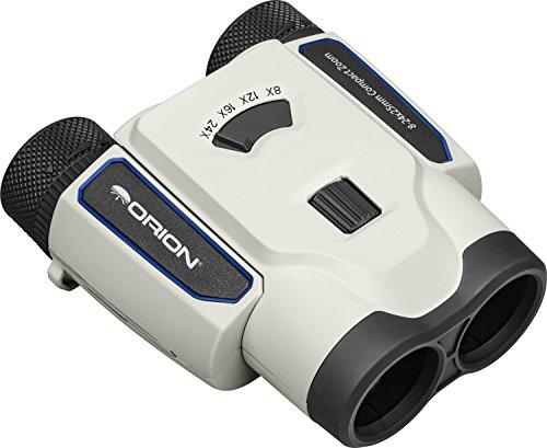 Orion 8-24x25 Compact Zoom Binoculars, White/Black (51851)
