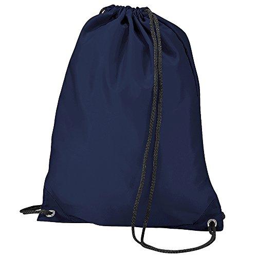 BagBase, sacca sportiva e per la scuola. Navy blue Taglia unica