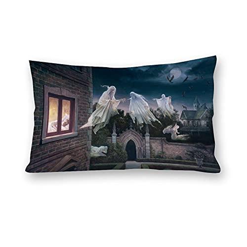 Halloween läskig natt kuddfodral kuddöverdrag kroppskuddöverdrag för bäddsoffa hem rum bildekor 50 cm x 76 cm