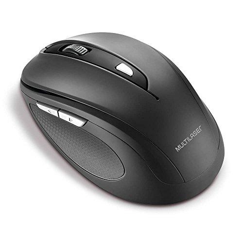 Multilaser Comfort MO237 - Mouse Sem Fio, 2.4 Ghz, 6 Botões, Preto