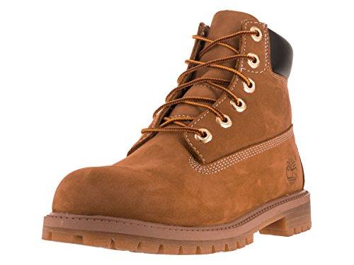 Timberland Unisex-Kinder 6 Inch Premium Waterproof (Junior) Klassische Stiefel, Gelb Wheat Nubuck, 37 EU